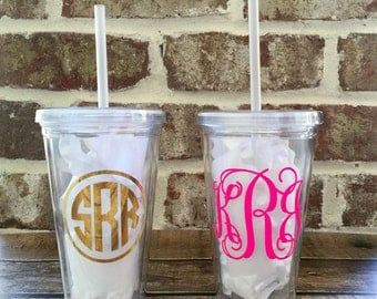 Monogrammed Tumbler Monogrammed Cup Monogrammed Gifts Bridesmaid Gifts Group Discount