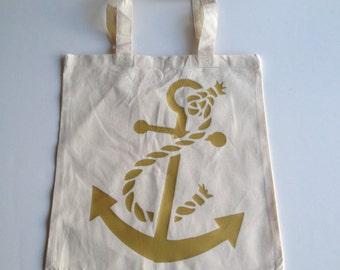 Anchor Tote Bag - Nautical Tote Bag - Beach Bag - Anchor - Gym Bag - Florida - Beach - Grocery Bag - California - Vacation - Travel Bag