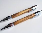 Hand-turned Mexican rosewood Vertex pen and mechanical pencil set