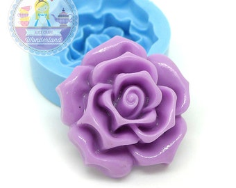 Large Rose Flower 34mm Flexible Mold Silicone Mold diy Cupcake decoration Fimo Polymer Clay Mold 361L*  BEST QUALITY