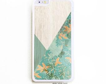 iPhone 6 Plus Case. iPhone 6+ Case. Floral Geometric Mint Block. Phone Case. iPhone Case. Phone Cases. 6 Plus Case.