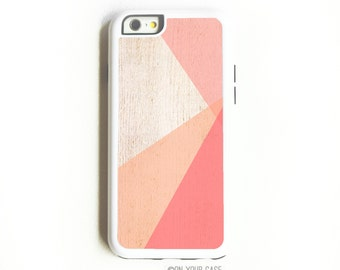 iPhone 6 Tough Case. iPhone 6 Cases. Coral Ombre Colorblock. Geometric Minimalist. Phone Case. iPhone Case. Phone Cases. Case for iPhone 6.