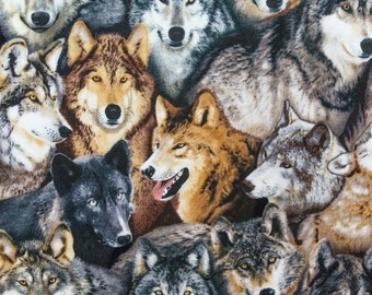 ℳ Way of the Wolf 100% Cotton 45 inch FC12666 Fabric by the yard, 1 yard