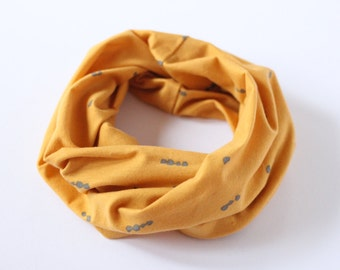 Infinity Scarf | Baby & Toddler | Mustard Yellow | Cotton, Spandex | Drool Bib | Under the Redwood Tree
