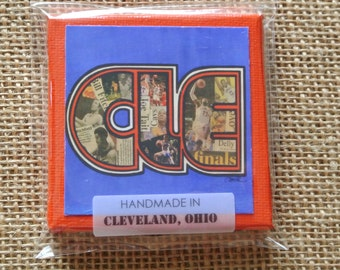 CLE THROWBACK CAVS - Mini Canvas Magnet