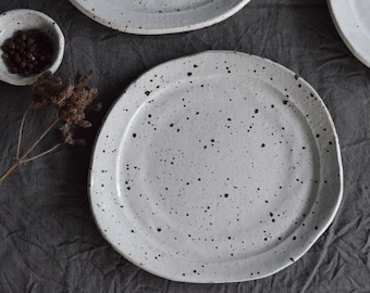 Speckled Side Plate - Pottery Plate - Ceramic Plate - Side Plate