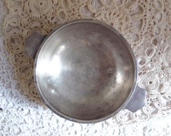 Vintage SILVER PLATED BOWL, Orfèvrerie Ercuis. Hallmarked and Numbered, Made in France.