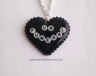 Ur Funeral Black Resin Necklace