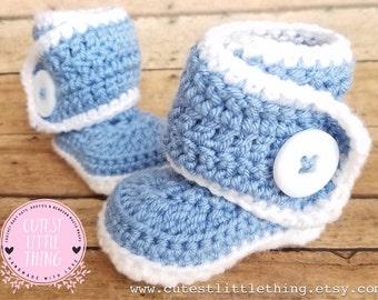 Baby Boy Booties, Crochet Boy Booties, Crochet Baby Boots, Crochet Baby UGG, Crochet Booties, Baby Boy, UGG
