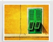 20% OFF SALE: Siesta - Italy illustration Art Print Poster Home decor Wall art Modern Art Gift idea Architecture Yellow Orange Italian facad