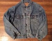 Vintage Levi Jacket / Vintage Levi Denim Jacket / Vintage Levi Jean Jacket