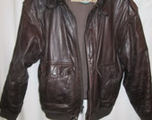 vintage. Charleys leather brown pilots bomber biker A 2 soft supple mens jacket size 44R