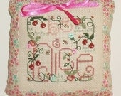 Completed Cross Stitch Be Nice Hanging Door Pillow