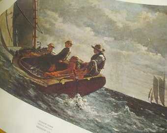 Winslow Homer Print , Winslow Homer Breezing Up Print , Nautical