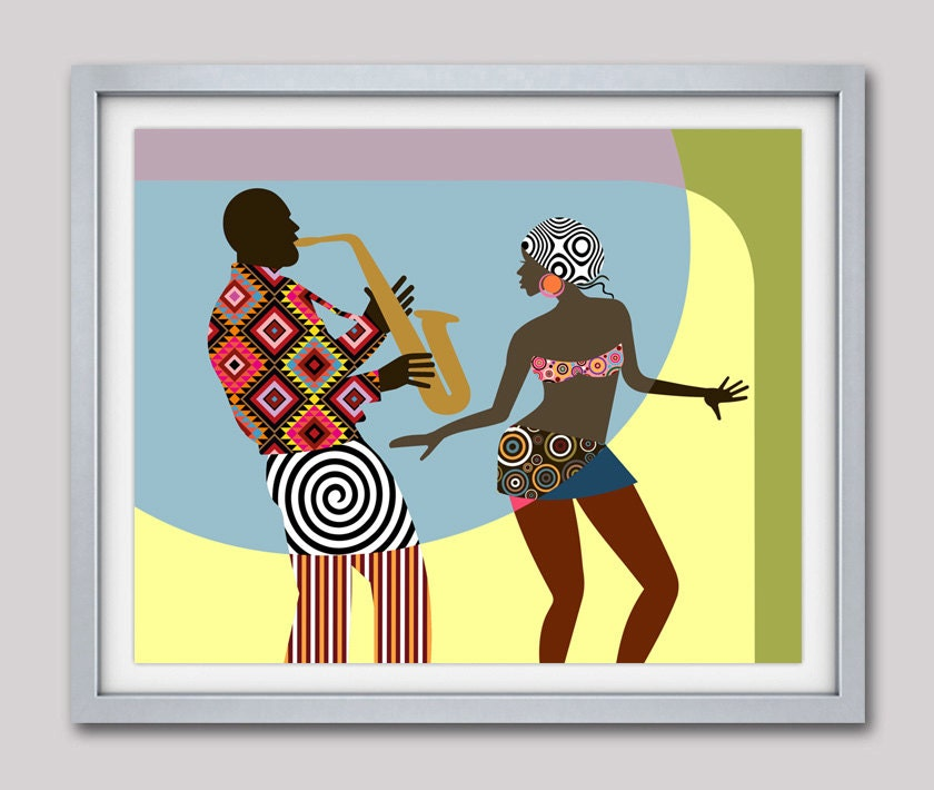 African american wall art african painting african decor for African wall decoration