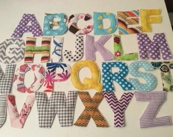 custom order baby girl flowers fabric alphabet letters toddler gift