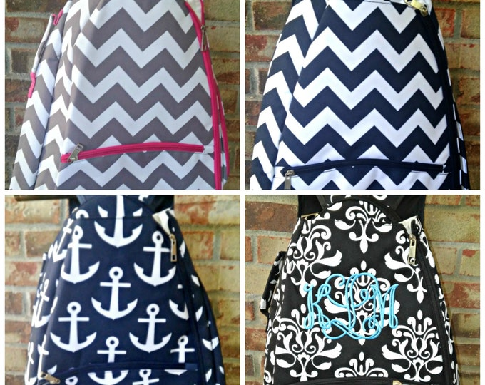 SALE SALE SALE/Personalized Tennis Racquet Backpack set/ monogram/Racquet Holder/