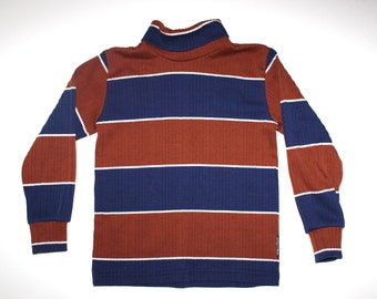 RETRO OSHKOSH - Vintage Boys Striped Turtle Neck - Brady Bunch Hipster
