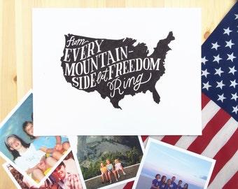 America Let Freedom Ring Art