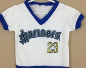 Vintage 1980s Seattle Mariners Baseball Jersey - Children, Toddler, Baby