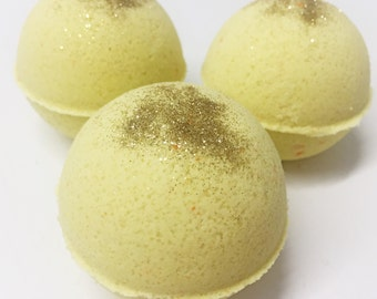 Sunshine Bath Bomb, Avocado Oil, Yellow, Glitter