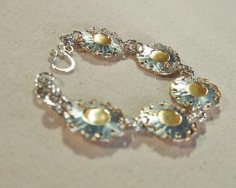 Sterling and Gold Bracelet