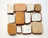 Square Shaped Sea Pottery, Pendant Supplies,Mosaic/Craft/Mixed Media  Supplies