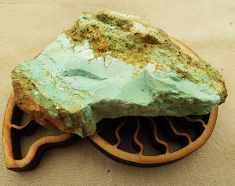 Nevada Turquoise Raw Rough Turquoise Chunk Unknown Mine Nevada Oldstock Lapidary Untreated Unstabilized