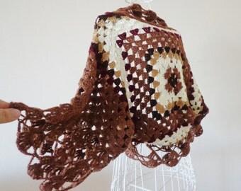 Women Crochet Cardigan, Boho Cardigan, Hand Knit Cardigan, Winter Fashion, Oversized Shrug.
