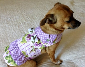 Dog Dress, Cat Dress, Small Dog Dress, Dog Clothes, Dog Clothing, Dog Outfit, Pomeranian Dress, Shih Tzu Dress,  Yorkie Dress, Custom Order
