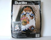 Vintage Bucilla Bunny Needle point kit, unopened, Pillow or Picture, 1993 Blossom Bunny 4674, nursery decor, Easter decor, gift idea