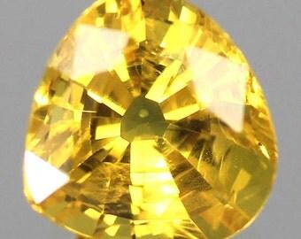2.14 Ct. Natural Loose Yellow Sapphire Yellow Trillion Gemstone