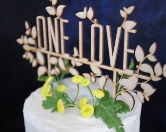 Custom Rustic Garden Pie-topper or Cake Topper for Wedding Dessert Table