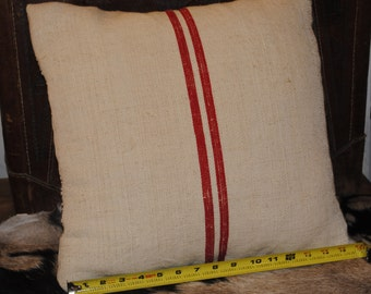 Antique Grain Sack Pillow