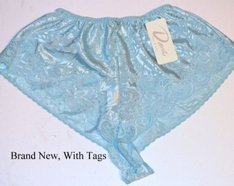 NOS Panties, High Waisted Panty, Size Medium, Blue Vintage Panty, High Waisted Lingerie, Undergarment, Women's Panties, Free Shipping