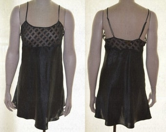 Victoria's Secret Gown, Sexy Lingerie, Black Gown, Size Medium, Sheer Gown, Sheer Lingerie, Short Nightgown, Gifts for Women, Valentine's