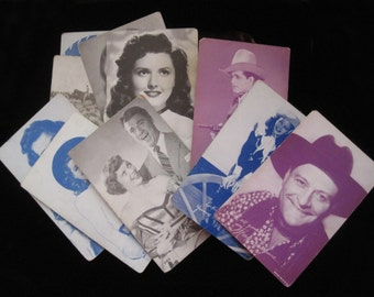 Movie Star Cards Vintage Collectible Arcade Card Westerns Trading Classic Film Print