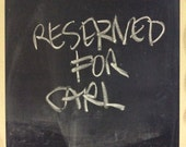 RESERVED for CARL