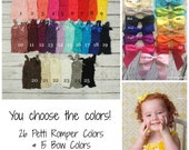 Lace Petti Rompers with Gorgeous Satin Bow - 26 colors Available! You Choose the Colors & Size! PLEASE READ Listing! DIY Photography Outfit
