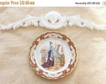 On Sale Vintage Shabby Chic Cottage Style Daher Decorative Metal Tray, Snack, Home Decor, Holland, French Magazine Art