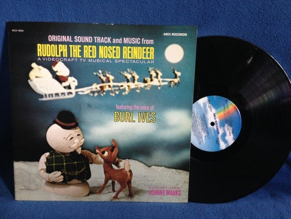 Rare Vintage Burl Ives Rudolph The Red Nosed By Sweetleafvinyl