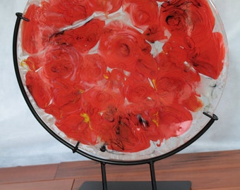Bed of Roses - Kiln Formed Glass