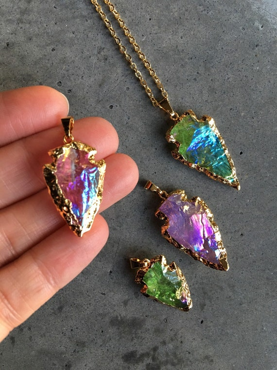Arrowhead necklaces, boho jewelry