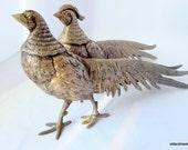 Peacock Birds, Pair of Metal Peacocks, Heavy Peacocks