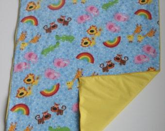 Waterproof Soft Baby Changing Mat-Diaper Changing Mat-Diaper Changing Pad-Waterproof Soft Baby Changing Pad Red Yellow Green Rainbow Animals