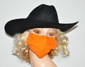 Surgical mask, Orange face mask, medical mask, flu protection, reusable, sick days, organic cotton, Men and Woman