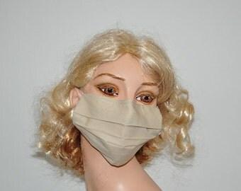 Organic cotton face mask, medical mask, flu mask, surgical mask, washable, adjustable straps