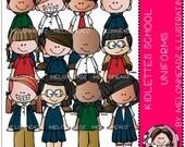 School Uniforms clip art - Kidlettes