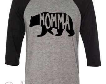 Momma Bear Mama Bear, Mom Shirt, mom tee, Funny mom shirts Long sleeve