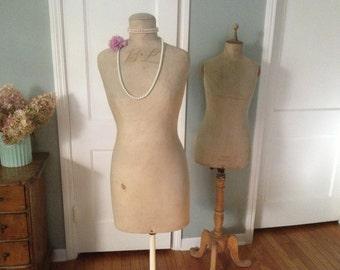 Antique Stockman Paris Mannequin French Dress Form Monogram Wood Stand